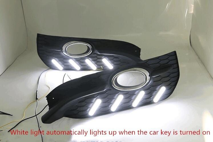 eOsuns LED daytime running light+fog light for honda Accord with Dynamic moving yellow turn signal and blue night light tw l0504 bird night light yellow