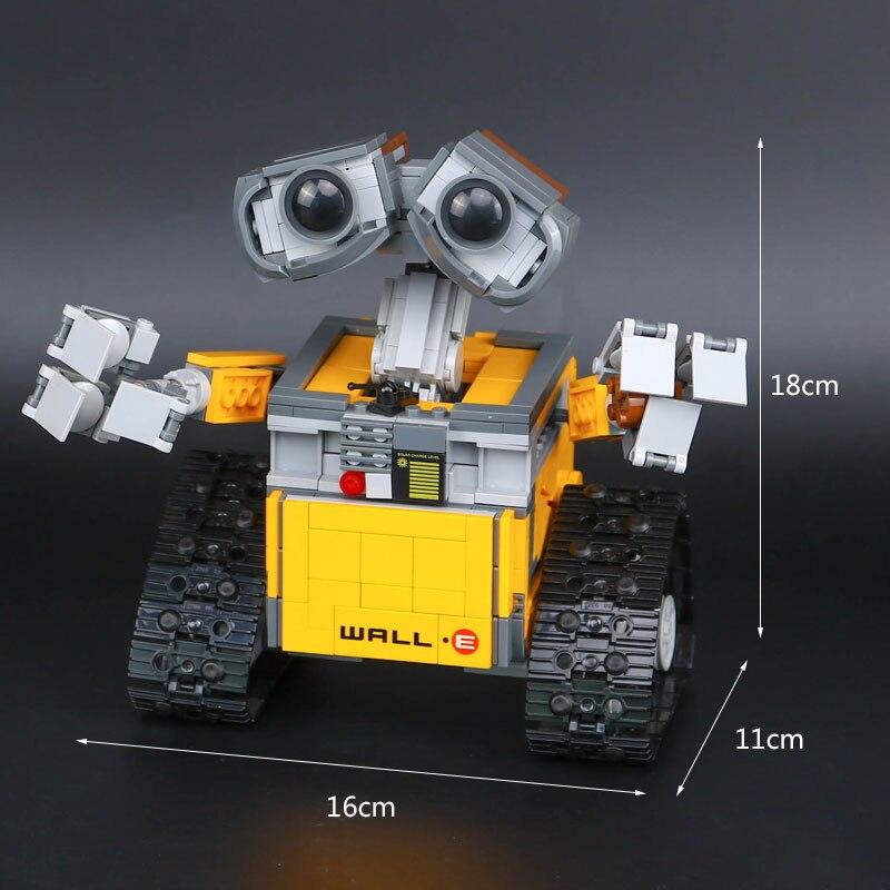 Top technique idée Robot mur E ensemble de construction Kits jouets briques éducatives blocs jouets pour enfants bricolage cadeau - 6