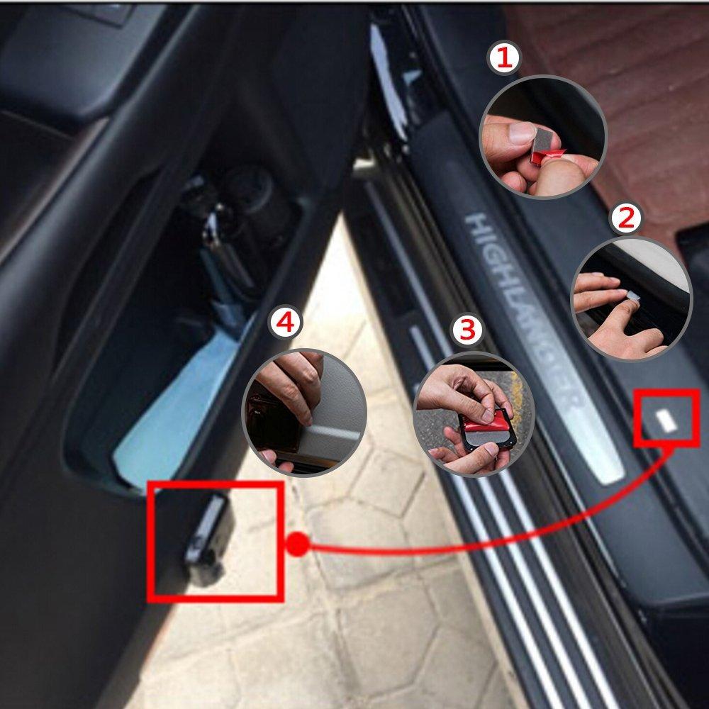 2 x Trådløst ledet dørprojektorlys Auto høflighed Velkomstlogo - Billygter - Foto 6