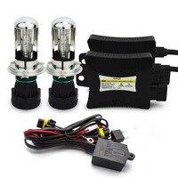 Safego 5sets 55W Hid h4 Bi xenon Conversion Kits h4 hi lo bi xenon light bulb h4 h13 9004 9007 bi xenon 6000k 12v