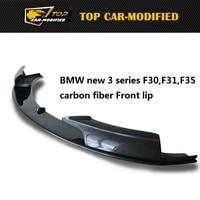 Free Shipping Carbon Fiber Front Spoiler Lip For BMW New 3 Series Carbon Fiber Front Bumper