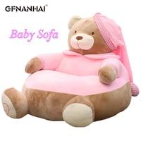 1pc 45cm Cartoon Baby Teddy bear Sofa Chair Plush toy Lovely Sleeping Pillow Toys Stuffed Soft Animal Sofa Doll Gift for Kids