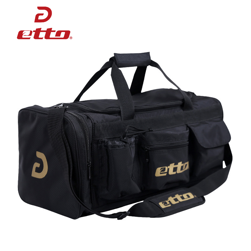 Etto Men High Quality Large Training Bag For Soccer Basketball Team Sports Bag With Shoes Compartment Fitness Gym Bag HAB306