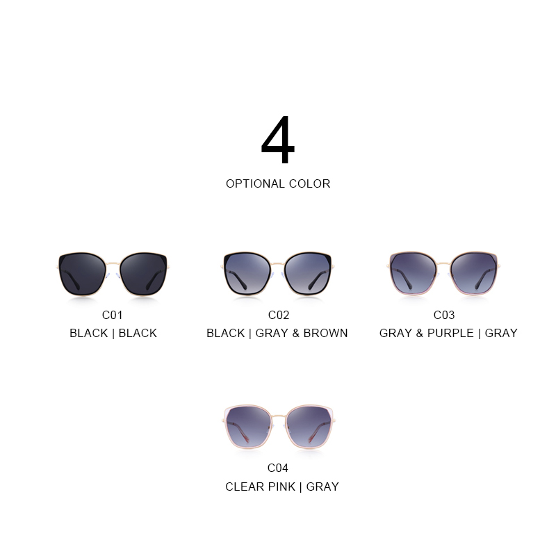 Merrys Donne Gray Disegno Marca Protezione Trend Occhio c04 Di C01 S6206 Lusso Da Occhiali Uv400 Clear Signore Purple Sole Pink Black Polarizzati Gatto c02 Delle c03 Modo rrOwdE1x