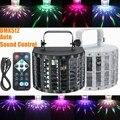 AC90-240V 15 W RGBW DMX512 LED Auto/Sound Strobe Control de Sonido Etapa de Iluminación Láser Proyector DJ Disco Con Mando A Distancia 9 Color