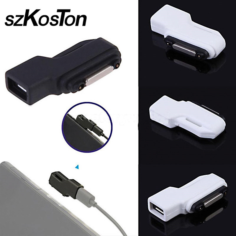 Hot Micro USB To Magnetic Charger Connector Adapter Converter For Sony Xperia Compact Z2, Z1, Z1 Compact Mini, Z3 Tablet Compact