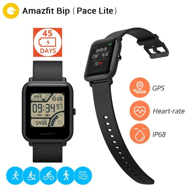 """Оригинал Сяо Mi Хуа Mi Amazfit Bip бит темп Lite Молодежный Смарт-часы Ми Fit отражение Цвет Экран 1.28"""" Баро IP68 Водонепроницаемый GPS"""