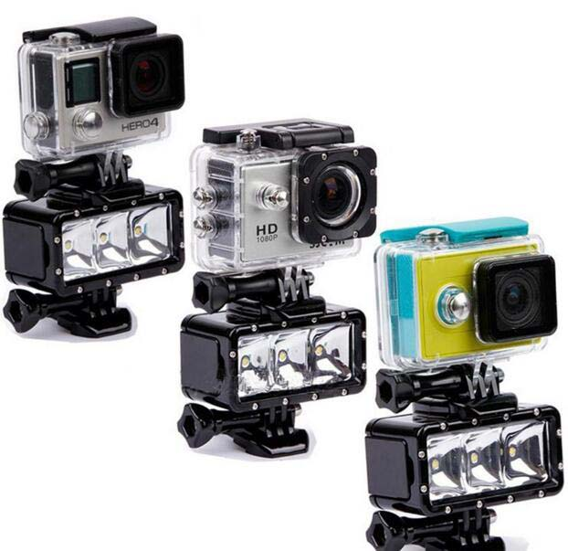 Gopro Underwater Waterproof LED Flash Diving Shooting Fill Light Lamp Mounts For SJCAM SJ4000 Camera