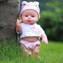 30cm Newborn Reborn Doll Handmade Boy Girl Baby Silicone Vinyl Dolls with Pink Clothes