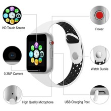 PLYSIN Bluetooth Sensible Watch Sport Health Tracker Sensible watch Cellphone with Digicam SIM Card Name for Android  iPhone