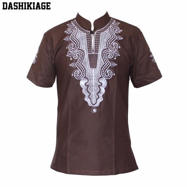 2865b866cea3 Dashikiage 5 Couleurs Africaines Mode Hommes femmes Unique Broderie Design  Casual T-shirt Cool