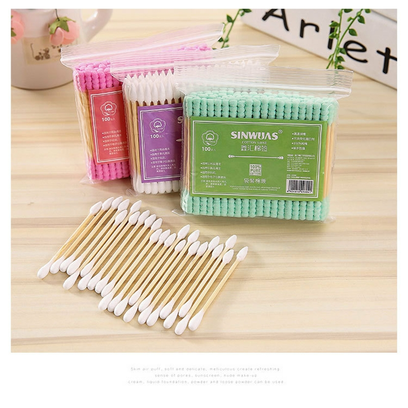 Children's small sticks, ears, cotton swabs, makeup remover,Cotton Pads,disposable double headed cotton swabs 2476