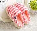 El nuevo 2016 fruta cixi algodón fleece invierno zapatillas Indoor zapatos hogar cálido zapatillas de Felpa casa hogar antideslizante