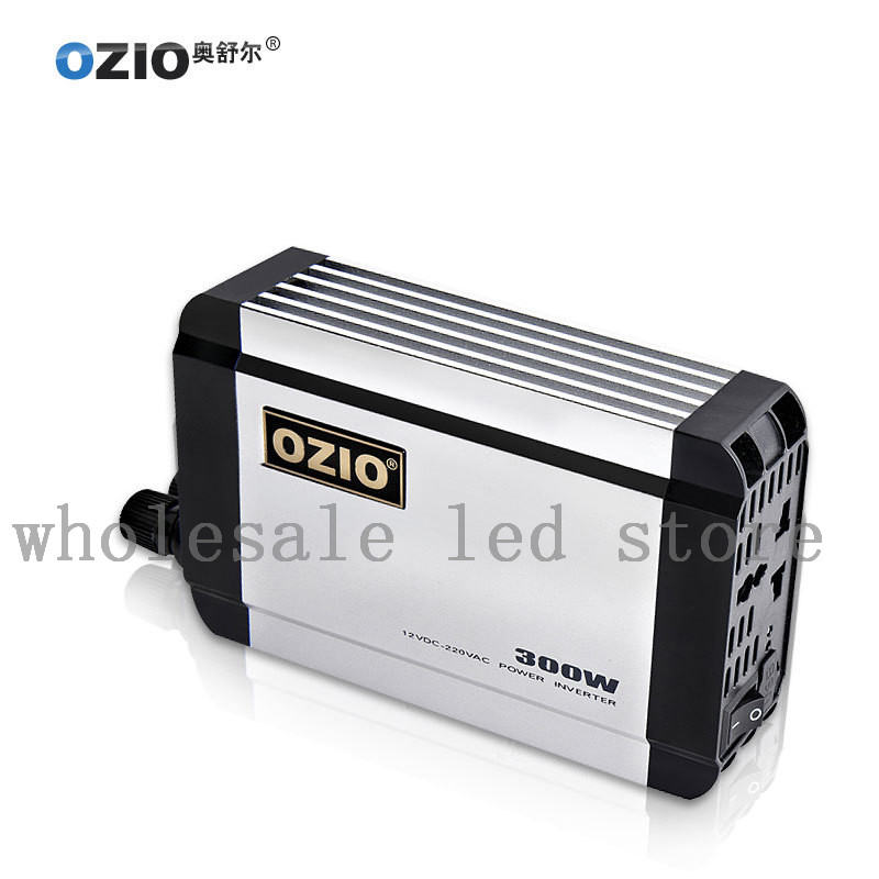 ФОТО Ozio 1pcs 2 ways Car Power Inverter dc 12v to ac 220v 300w USB 500mA EU30 New Arrival Free Shipping