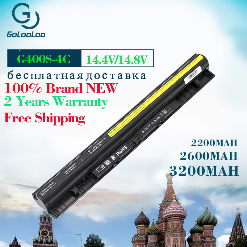 Golooloo Laptop Battery Lenovo G400s G405s G500s L12S4A02 L12M4E01 3200mah for G405s/L12l4a02/L12l4e01/..