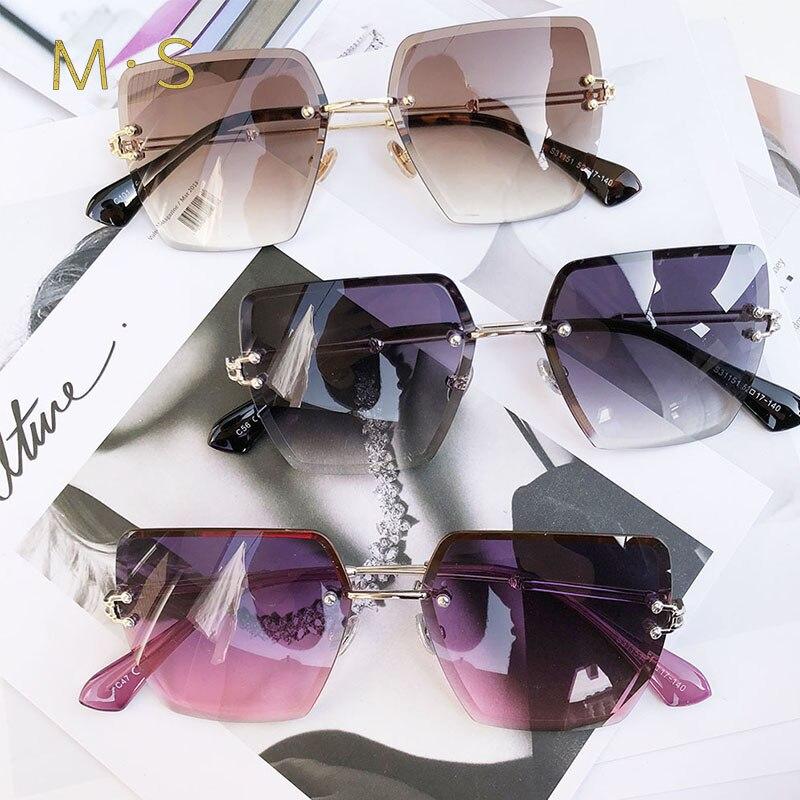 2018 New oversized sunglasses for Women Square Sunglasses Women Mirrored Glasses Fashion Female designer sunglasses sol UV400