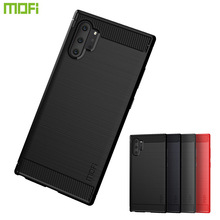 MOFi For Samsung Note 10 Pro Back Cover Luxury Carbon Fiber Anti-drop TPU Soft Cover Cases For Samsung Note 10 Pro Back Cover все цены