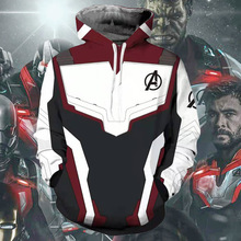 все цены на 2019 Movie Avengers Endgame Quantum Realm Sweatshirt Jacket Advanced Tech Hoodie Cosplay Costumes superhero Iron Man Hoodies
