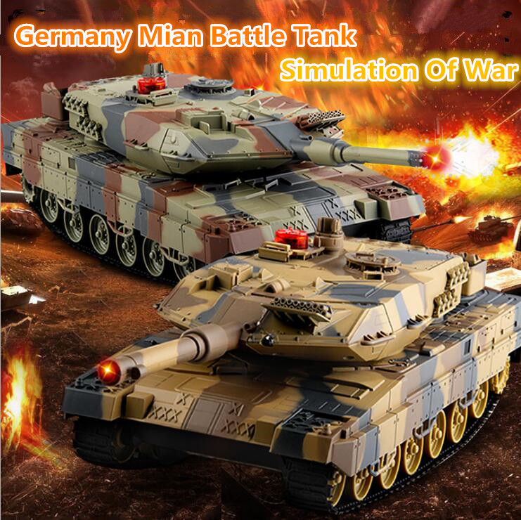 Newest 2pcs VS HUMAN RC Battle Tank 558 29CM Simulation Infrared germany tiger RC main Battle Tank Boy Children Toys Panzer Toy цена и фото