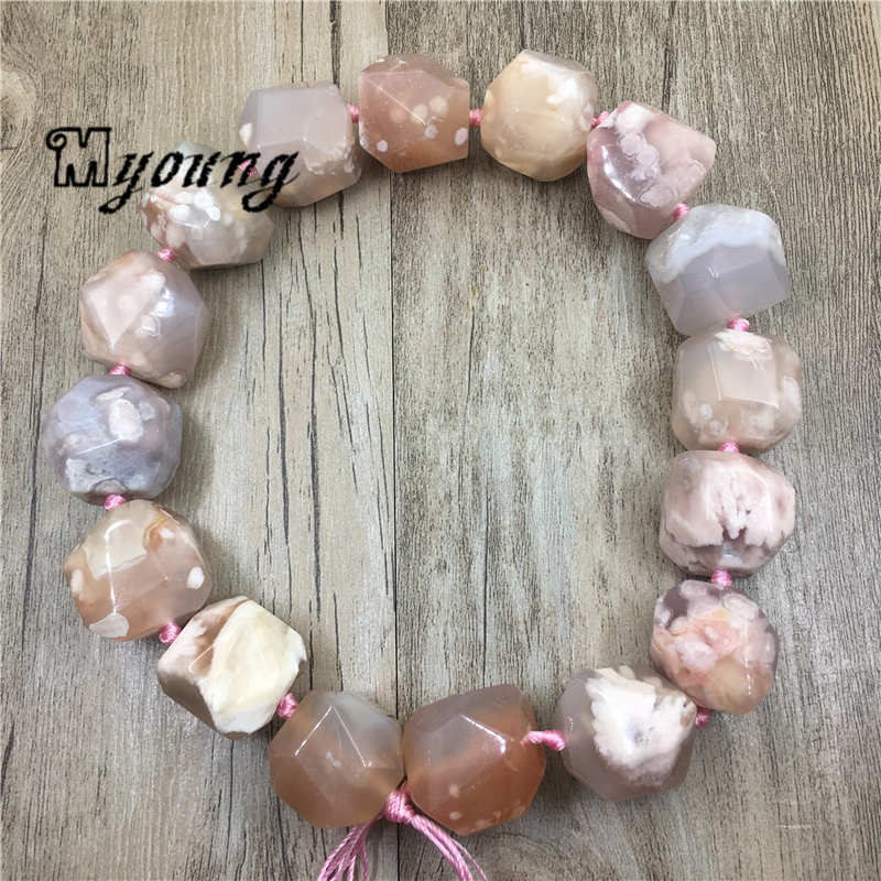 Image 3 - Large Faceted Cherry Agates Stone Nugget Beads,Natural Gems Stone Pendant Beads For DIY Jewelry MY1960Beads