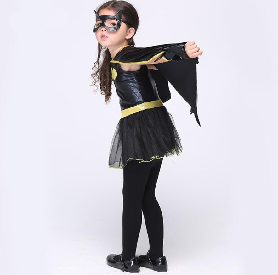 Bat Girls Costumes Halloween Carnival Party Batman For Girls Children Cosplay Dance Dress Costumes for Kids Black Clothing-in Sexy Costumes from Novelty ... & Bat Girls Costumes Halloween Carnival Party Batman For Girls ...