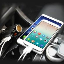 Car Charger 3 USB Ports and 1 Socket Cigarette Lighter