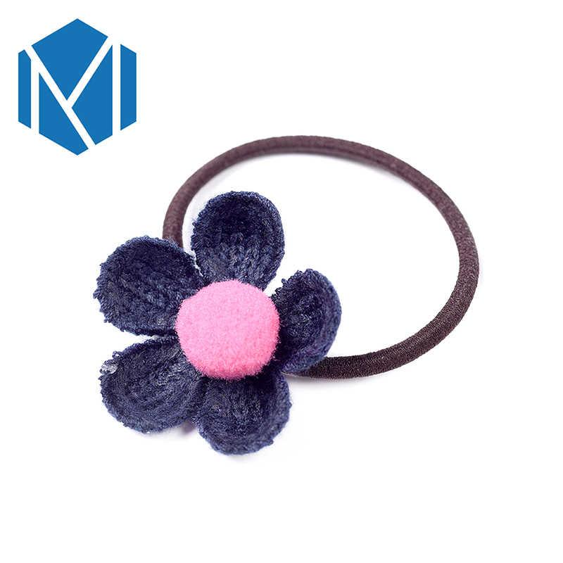 M MISM Kawaii ดอกไม้ Scrunchie เด็กผมยืดหยุ่นวงผมสาวเกาหลีแฟชั่น Elastique Cheveux น่ารัก Faixa De Cabelo