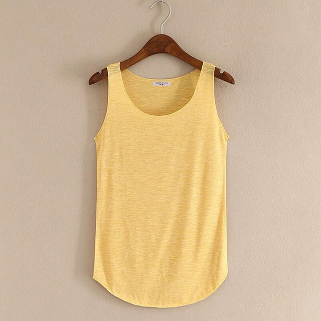 Spring Summer New Fitness Tank Tops Women Sleeveless Round Neck Loose T Shirt Ladies Vest Singlets Slim T-shirts Woman Clothes 3