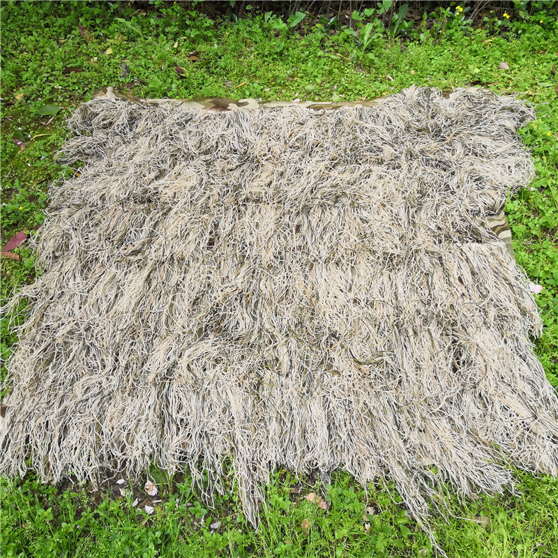 Poncho style Hay grass style desert Bionic Ghillie Suits Hunting Blind Tent camouflage cover Use for