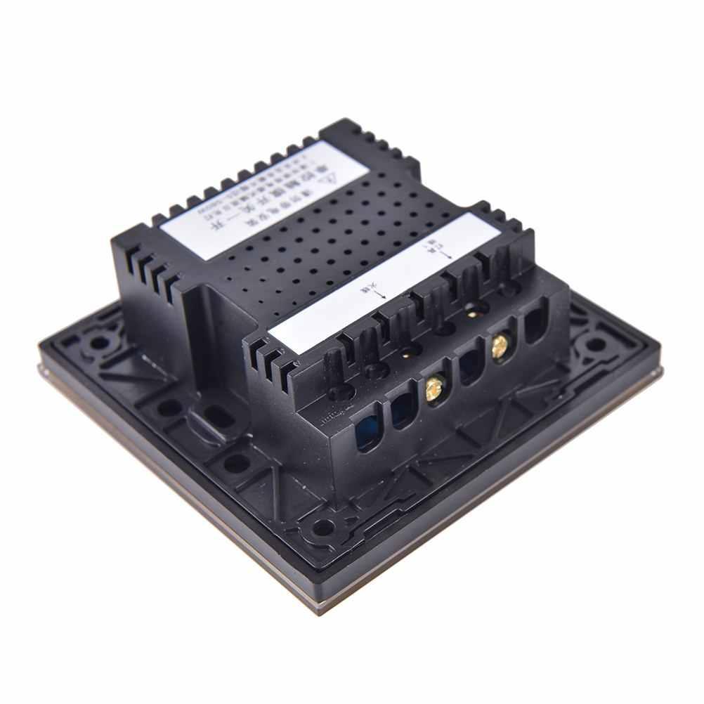 5 x Glass Touch Light Switch Wall Switch switch Ein//Aus VL-C701-15 Grau