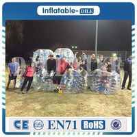 Best Equip Inflatable Bumper Ball Human Bubble Soccer Football 100% TPU 1.5m Wearable Inflatable Bumper Zorb Ball For Children