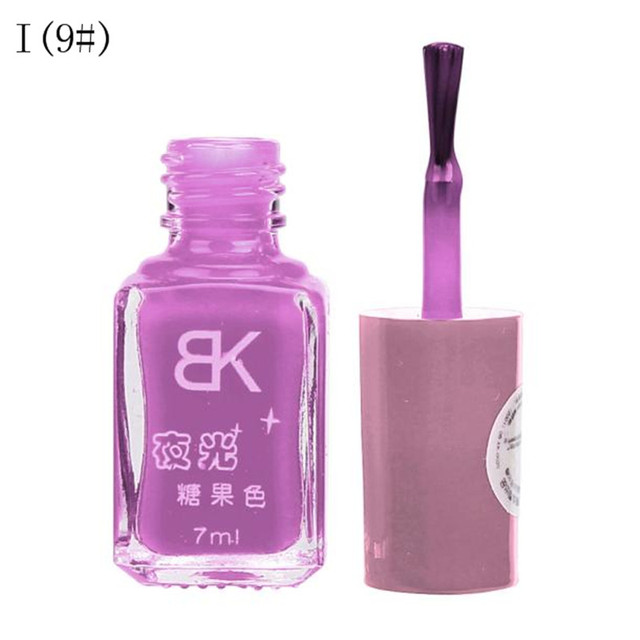 20Colors Candy Nail Art Nagellak Nail Lacquer Luminous Fluorescent Neon Nail Polish Glow In The Dark Vernis A Ongle Fast Dry 7ml