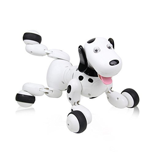 777-338 RC walking dog 2.4G Wireless Remote Control Smart Dog Electronic Pet Educational Children's Toy Robot Dog for AI Gift pet attire sparkles dog collar 8 12in pink