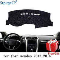 Latest Rose Pattern Non slip Car Dashboard Cover Dash Mat Pad DashMat ANti UV Car Sticker for Ford mondeo 2013 2018 Car Styling
