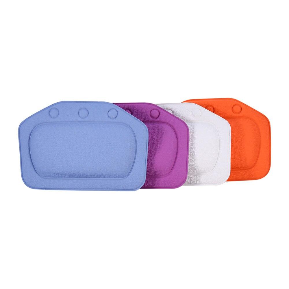 4 Colors Comfortable Bath Pillow Headrest Suction Cup Bathtub Pillow ...