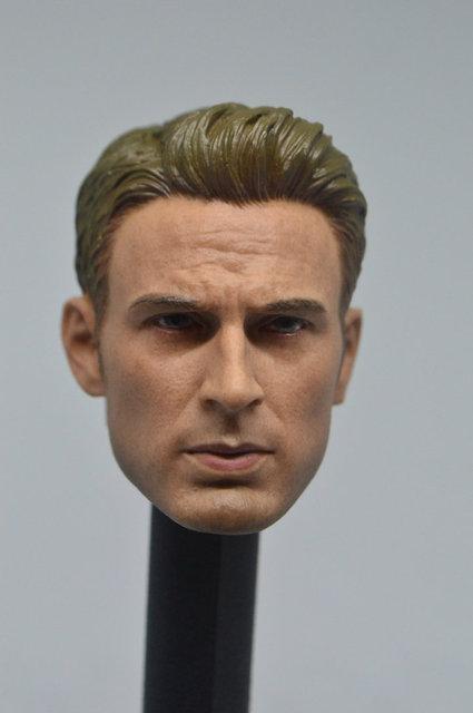 Custom 1/6 Scale Captain America Steve Rogers Male Head Sculpt HOT HEART New
