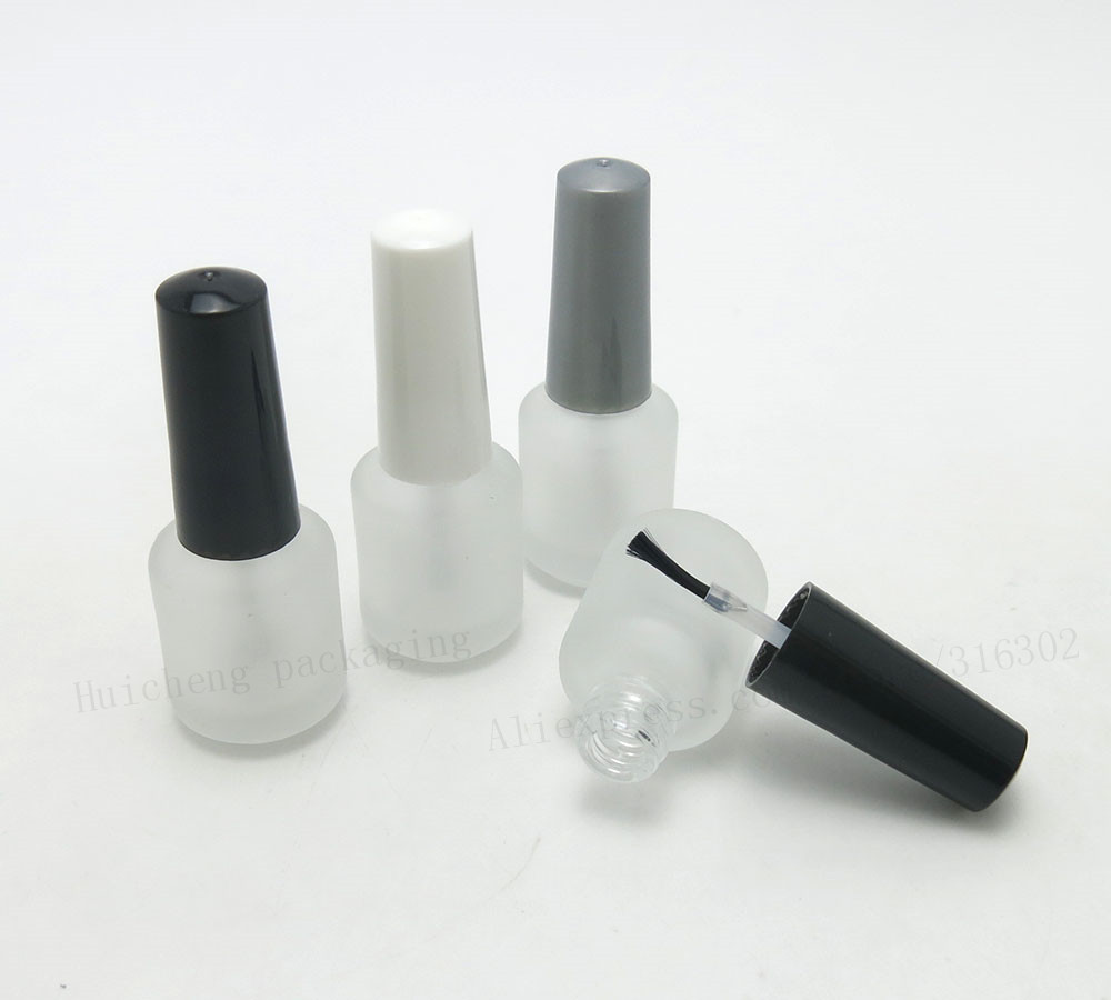 Lot of 500pcs 7ml Empty Frost Nail Polish Glass Bottle 7cc Nail Polish Glass Container Wholesale