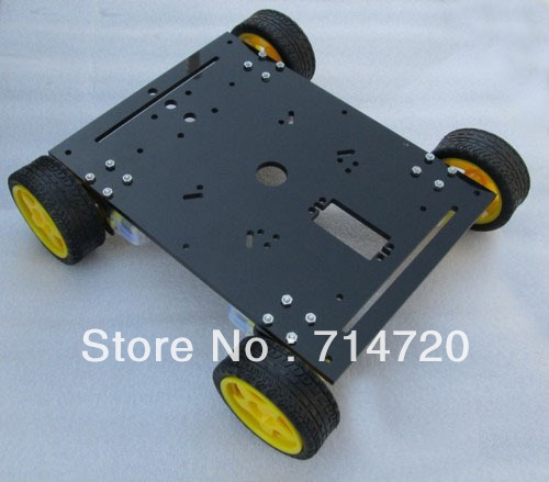 Free shipping 4WD magic car 4-wheel robot chassis Maximum load 7kg