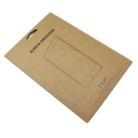 Brown Tablet PC Screen Protector Film Packaging Paper Box Protective Films Packing Pouches Bag For IPad