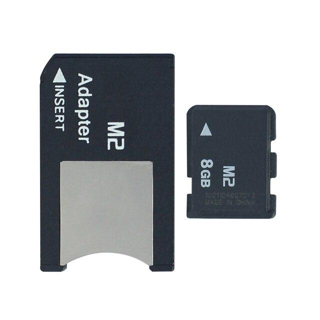 Хит! Карта памяти 8 ГБ 4 ГБ 2 ГБ 1 ГБ M2 карта памяти Micro с адаптером MS PRO DUO