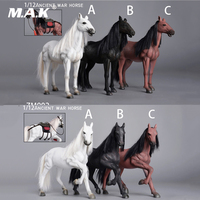 1/12 Scale Ancient War Horse ZM001/ZM002 Running Ver./Standing Vivid Animal Model With Accessories for Action Figure