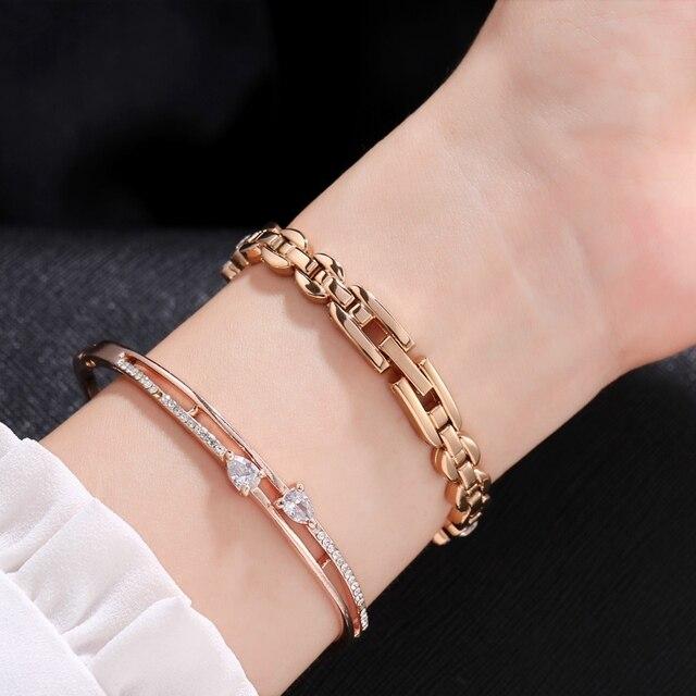 Femmes de luxe Bling strass Bracelet en acier Quartz étanche montres dames bijoux or argent horloge Disney Mickey fille nouveau