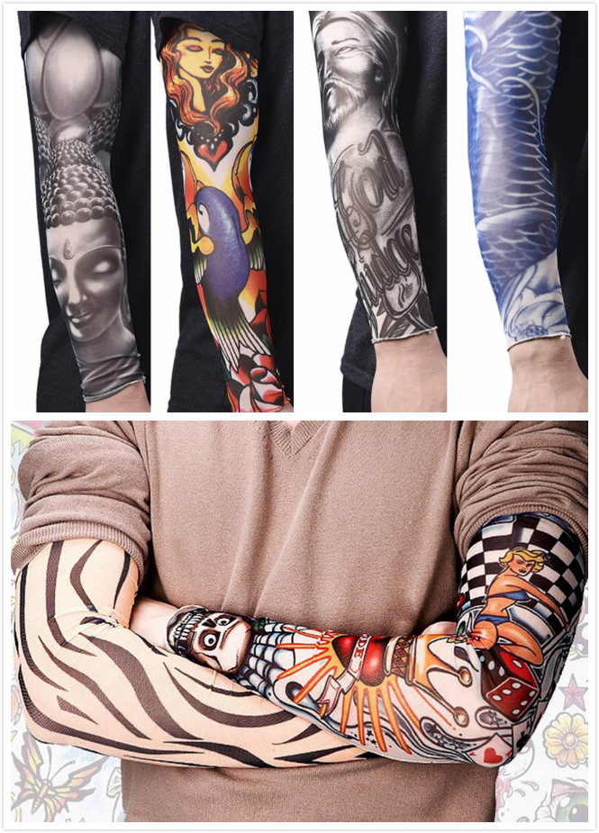 Men's Arm Warmers Apparel Accessories Anti-sunshine Fashion Men And Women Tattoo Arm Leg Sleeves High Elastic Nylon Halloween Party Dance Party Tattoo Sleeve