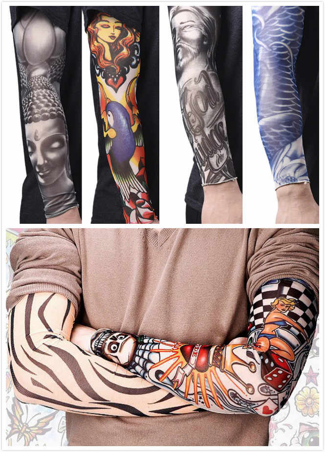 508ccb6e113 Anti-Sunshine Fashion Men and Women Tattoo Arm Leg Sleeves High Elastic  Nylon Halloween Party