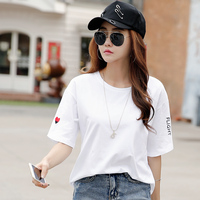 Short Sleeved T Shirt Women Loose Korean BF Wind Summer 2017 New Half Sleeve T Shirt