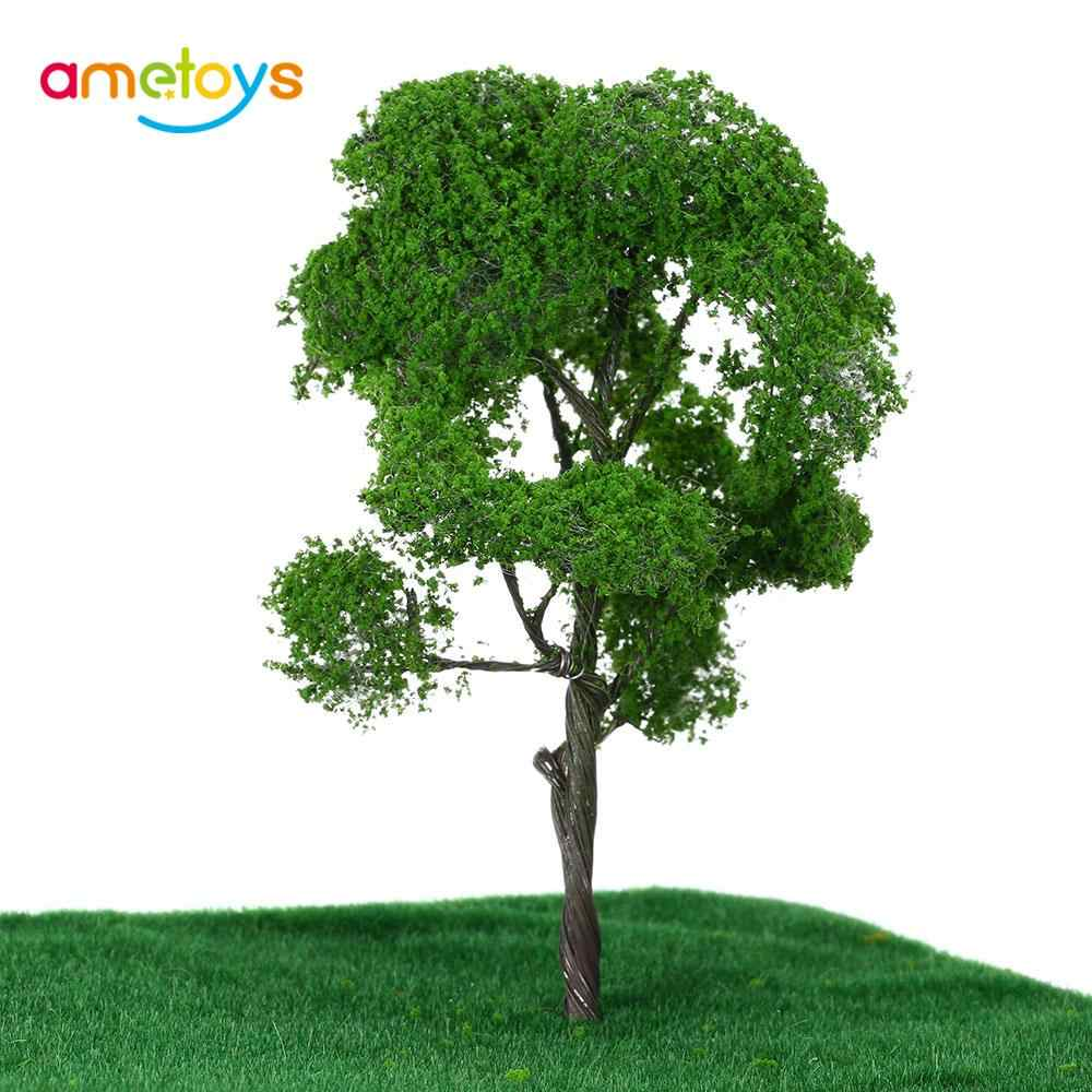 4.7 Inch Miniatures Tree Model Architectural Model Railroad Layout Green Landscape Scenery Train Model Trees Juguetes for Kids