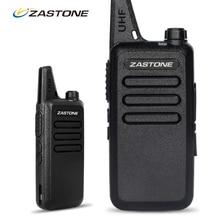 Zastone ZT X6 Mini Walkie Talkie with Headset 400 470Mhz Frequency UHF Handheld Radios Comunicador Two
