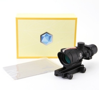 ACOG 4X32 Style Real Red or Green Fiber Source Duel Illuminated Rifle Scope Sight Tactical for Airsoft Hunting Rifle