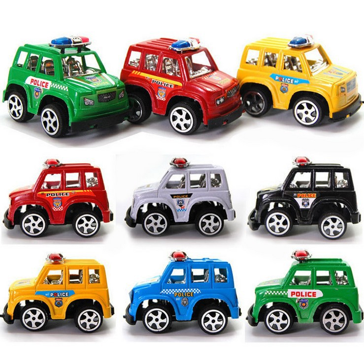 6 Colors Mini Cars Cartoon Police Car Toys Pull Back Police Car Toys For Boys Children Baby For Kids Children Toy Randomly Sent