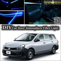 interior Ambient Light Tuning Atmosphere Fiber Optic Band Lights For Nissan AD Van Y12 Inside Door Panel illumination Refit